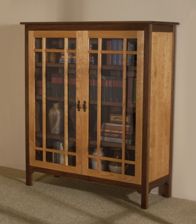sandhill-designs-glass-front-bookcase