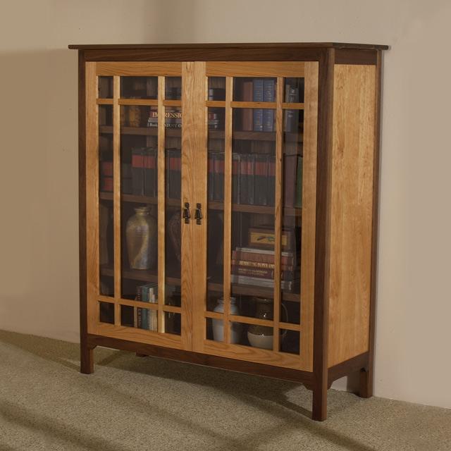 sandhill-designs-glass-front-bookcase - Office Furniture